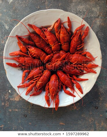 Skillet Full of Crawfish Stock photo © 805promo