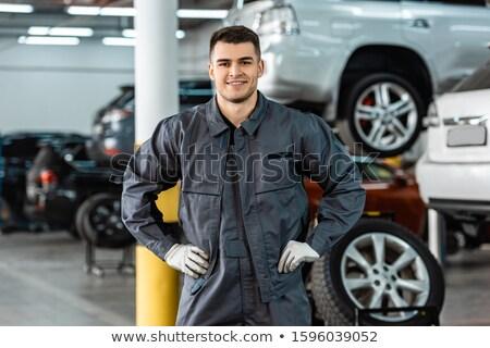 szolgáltatás · férfi · áll · kezek · csípők · derűs - stock fotó © 805promo
