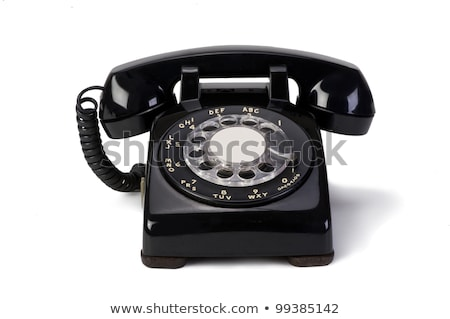 Old vintage rotary phone Stock photo © d13
