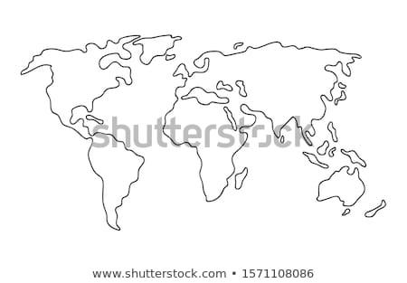 Harita dünya kâğıt deniz toprak Stok fotoğraf © m_pavlov