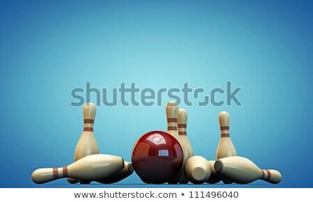 синий Шар для боулинга движения спорт весело скорости Сток-фото © tilo