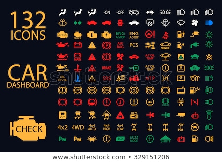 Car Dashboard Icons. vector illustration © Oleksii Afanasiev ... | {Armaturenbrett symbole 33}