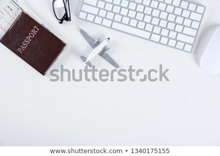 Plane on keyboard Stock photo © Grazvydas
