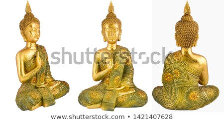 sitting golden statue stock photo © w20er
