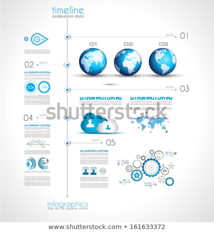 Timeline to display your data with Infographic elements Stock photo © DavidArts