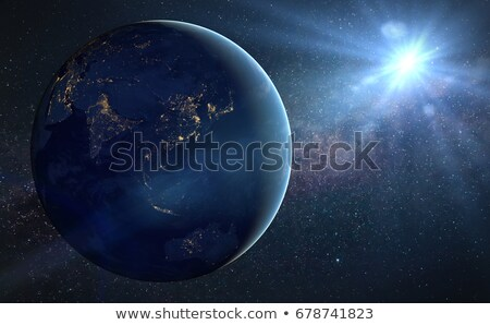 Nuit Inde sous-continent indien planète terre espace Photo stock © Harlekino