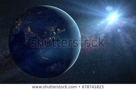 City · Lights · Мир · карта · Индия · Элементы · изображение · город - Сток-фото © harlekino