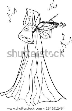 Tattoo art illustration, angel with violin stock photo © Fernando_Cortes
