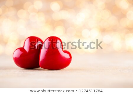 red heart valentines day and bokeh background stock photo © adamson