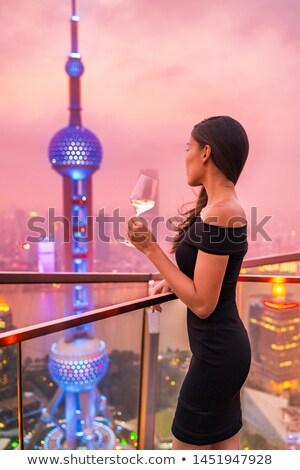 китайский люди питьевой коктейли роскошь коктейль Сток-фото © Kzenon