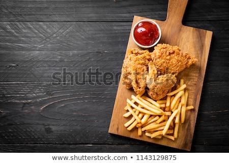 Mięsa frytki kurczaka obiedzie posiłek Zdjęcia stock © M-studio