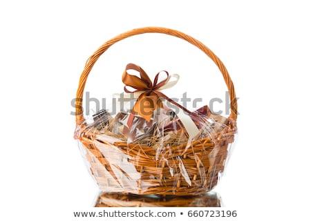 Подарочные · корзины · подарок · цветы · изолированный · белый - Сток-фото © kitch