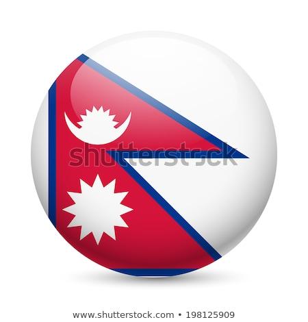 Nepal bandera icono aislado blanco Internet Foto stock © zeffss