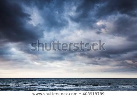 kék · tenger · viharos · drámai · égbolt · nap - stock fotó © mikko