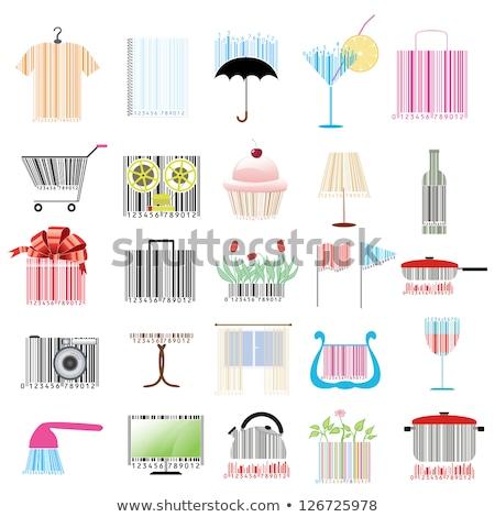 Streepjescode paraplu business achtergrond zwarte supermarkt Stockfoto © shawlinmohd