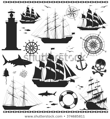 trace of ship - vintage retro style Stock photo © Mikko