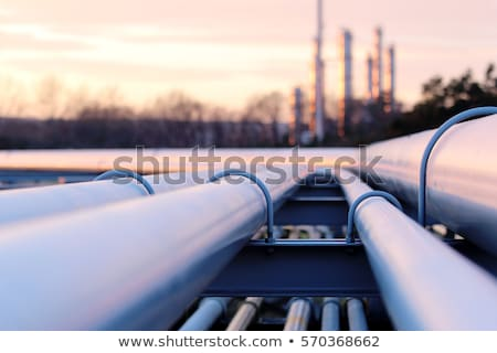 Industrial pipes for transport of energy Stock photo © Hofmeester