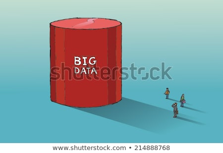 big data blue marker stock photo © ivelin