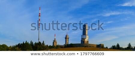 Stockfoto: Televisie · toren · Frankfurt · avond · business · boom