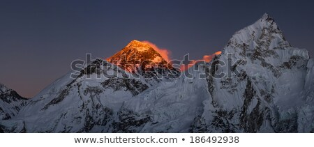 Evereste panorâmico ver pôr do sol grande Foto stock © Arsgera