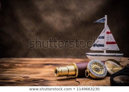 Nap Amerika terv óceán kék hajó Stock fotó © mayboro1964