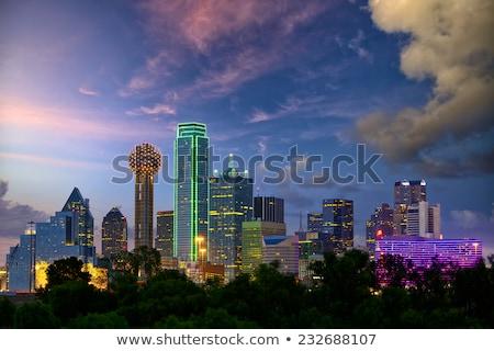 şehir · merkezinde · Dallas · Teksas · gece · Bina · manzara - stok fotoğraf © dgilder