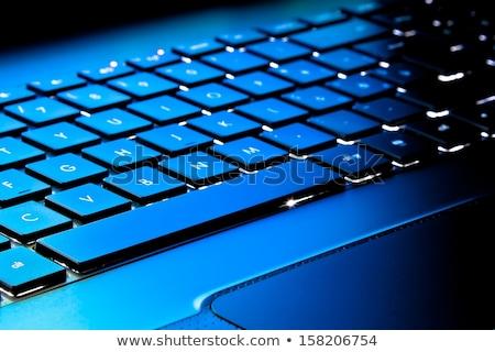 Monde clavier d'ordinateur portable portable ordinateur design monde Photo stock © designers