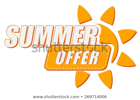summer offer and sale with sun signs flat design labels stock photo © marinini