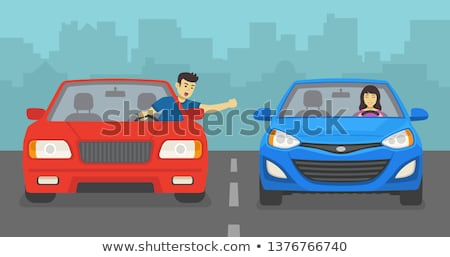 Angry, screaming female car driver Stock photo © ichiosea