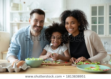 Cute and young girl prepare for marriage Stock photo © racoolstudio