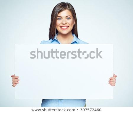 белые · волосы · бизнесмен · улыбаясь · большой · белый - Сток-фото © feedough