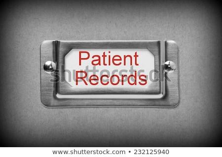 Private Data on Label Holder. Stock photo © tashatuvango