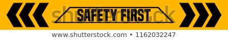 Veiligheid eerste 3D gegenereerde foto Geel Stockfoto © flipfine