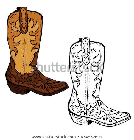 cowboy boots vector illustration Stock photo © konturvid