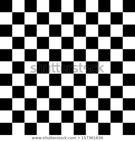 Czarno białe streszczenie projektu tabeli szachy Zdjęcia stock © aliaksandra