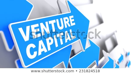 Сток-фото: Venture Capital On Direction Arrow Sign