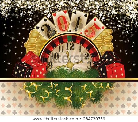 Felice nuovo 2015 anno casino poker Foto d'archivio © carodi