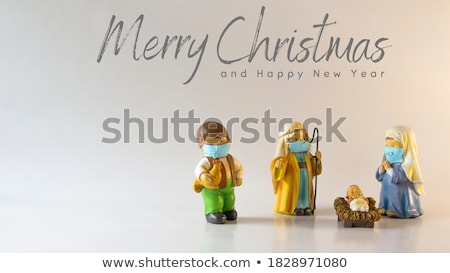 Christmas greeting card Nativity Scene  Stock photo © marimorena