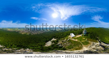 City of Nitra with Transmitter from Above Stock photo © Kayco