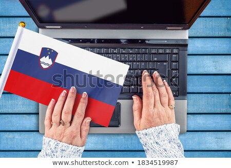 Hands working on laptop, Slovenia Stock photo © michaklootwijk