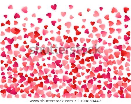 Love ruby heart, wedding valentines day, vector illustration Stock photo © carodi