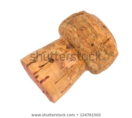 Foto stock: Champanhe · cortiça · velho · vinho