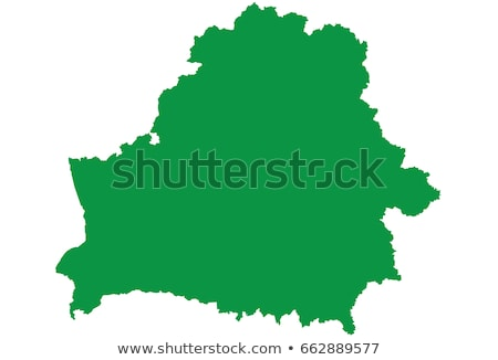 Silhueta mapa Bielorrússia assinar branco Foto stock © mayboro