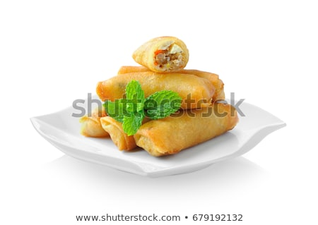 spring roll and sauce Stock photo © M-studio