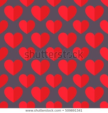 lila · végtelenített · szív · minta · terv · papír - stock fotó © slunicko