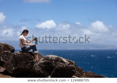 woman on maui beach stock photo © iofoto