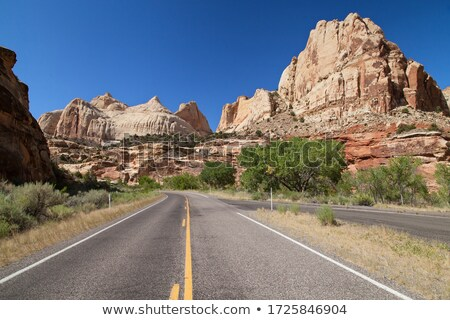 Capitol Dome Navajo White Sandstone Mountain Capitol Reef Nation Stock photo © billperry