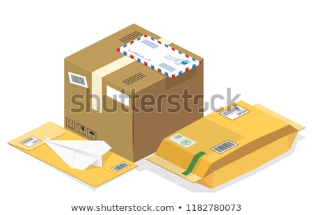 Cardboard box package sealed and ready for shipment Stock photo © hd_premium_shots