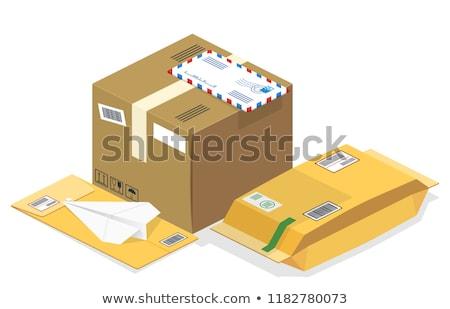Kartondoboz csomag kész szállítmány vásárlás posta Stock fotó © hd_premium_shots