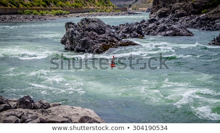 Kayaking in the Fraser Canyon Stock photo © hpbfotos
